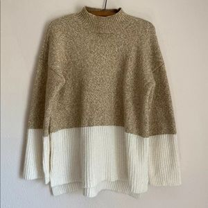 Michael Kors Sweater 2 Color Brown White Large